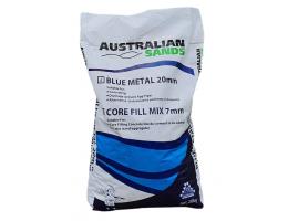 20mm blue metal corefill