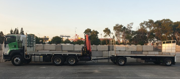 8m crane and trailer