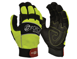 G Force Hi Vis Mechanics Gloves