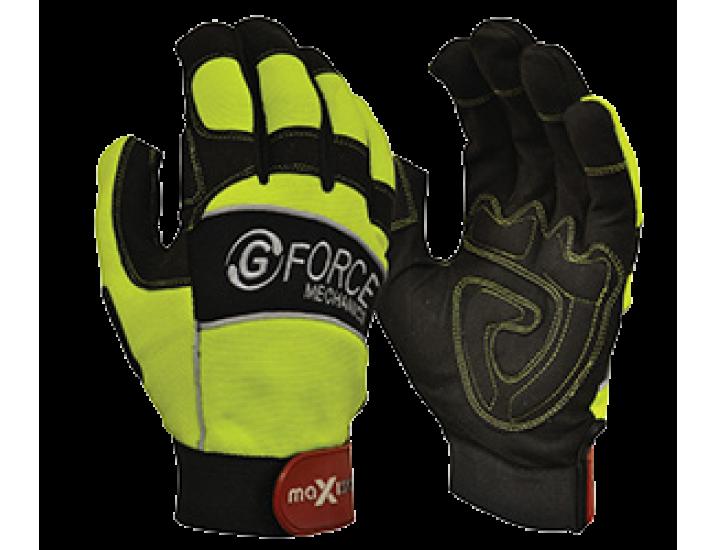 G Force Hi Vis Mechanics Gloves
